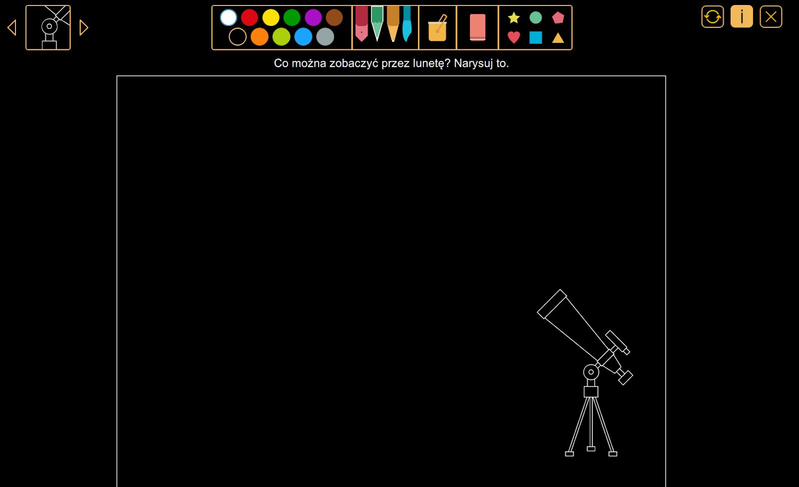 Wyobraź sobie - Co można zobaczyć przez lunetę? z pakietu W krainie kolorów