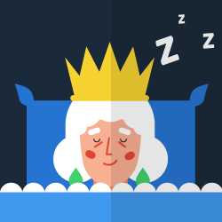 Don't wake up the Queen logo