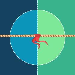 Przeciąganie liny logo