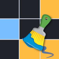 Rozpoznaj wzór kolorowej mozaiki logo