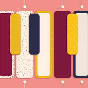Kolorowe pianino logo