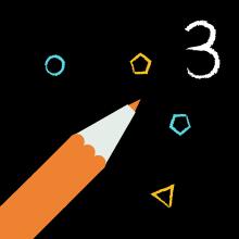 3-latek rysuje logo