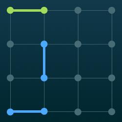 Połącz kropki pion/poziom logo