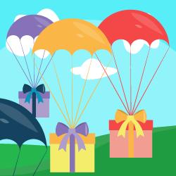 Grab a present logo
